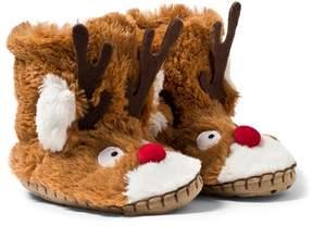 Hatley Fuzzy Reindeer Slippers