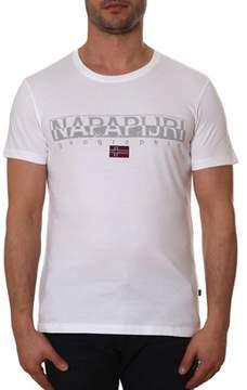 Napapijri Men's White Cotton T-shirt.