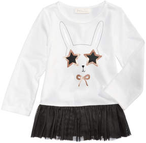 First Impressions Bunny-Print Tulle Tunic, Baby Girls (0-24 months), Created for Macy's