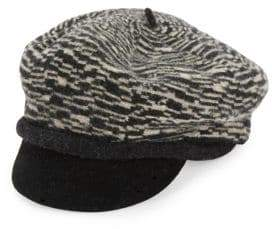 Scala Textured Wool Newsboy Hat