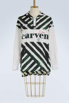 Carven Long logo windbreaker
