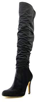 INC International Concepts Thalis Women Canvas Black Over The Knee Boot.