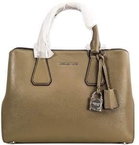 Michael Kors Dark Dune Women's Camille Satchel Leather Handbag - BROWNS - STYLE