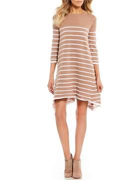 Copper Key Elbow Sleeve Stripe Dress