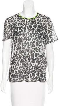 Marc Jacobs Leopard Print Short Sleeve Top