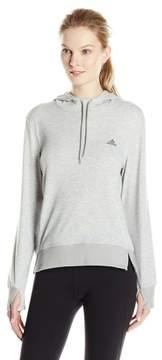 adidas Women's 2Love Pullover Hoodie, Medium Grey, Medium