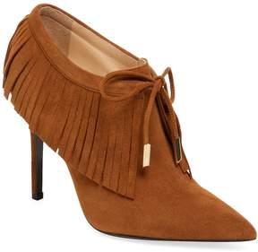 Aperlaï Women's Suede High Heel Bootie