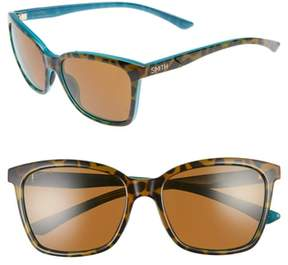 Smith Women's 'Colette' 55Mm Chromapop(TM) Polarized Sunglasses - Tortoise Marine