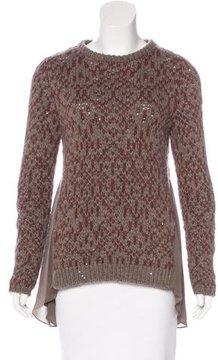 Brunello Cucinelli Silk-Trimmed Cashmere Sweater