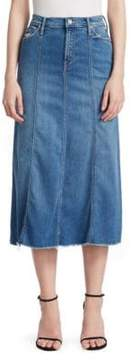 Mother High-Waisted Super Panel Fray Skirt