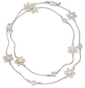 Coomi Opera Silver & Gold Flower Necklace