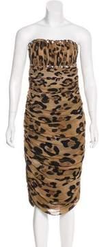 Blumarine Strapless Silk Dress