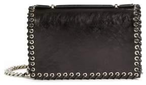 Calvin Klein Whipstitch Leather Shoulder Bag