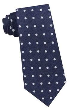 Lord & Taylor The Mens Shop Dot Denim Tie