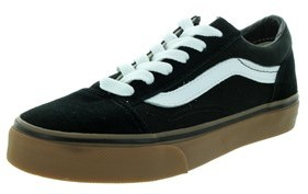 Vans Kids Old Skool (gumsole) Skate Shoe.