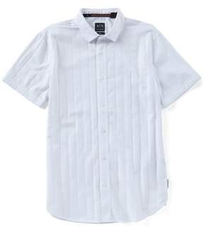 Armani Exchange Plaid Short-Sleeve Woven Shirt