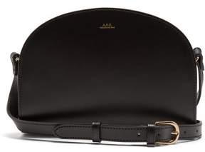 A.P.C. Half Moon Leather Cross Body Bag - Womens - Black