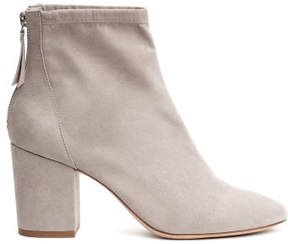 H&M Block-heeled ankle boots - Gray