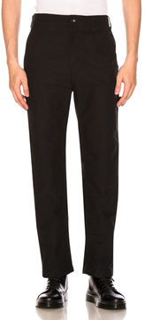 Engineered Garments Cotton Double Cloth Logger Pants in Black.
