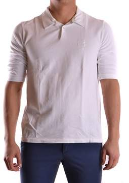 Incotex Men's White Cotton Polo Shirt.