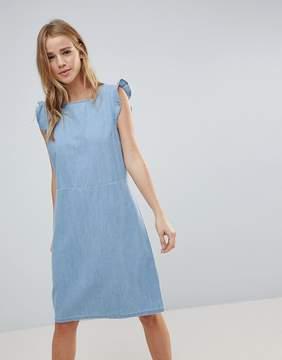 Blend She Mila Denim Frill Sleeve dress