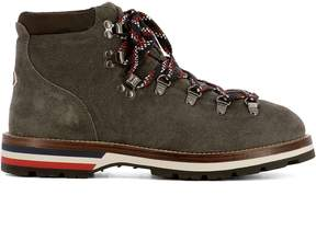 Moncler Grey Suede Ankle Boots