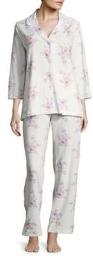 Carole Hochman Floral Cotton Pajama