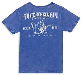 True Religion Boys' Buddha Graphic Mineral Wash Tee - Little Kid, Big Kid