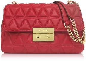 Michael Kors Bright Red Sloan Large Quilted-Leather Shoulder Bag - ONE COLOR - STYLE