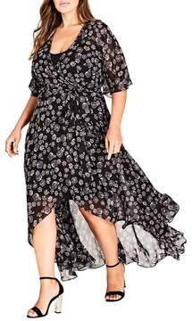 City Chic Mini Flower Maxi Dress