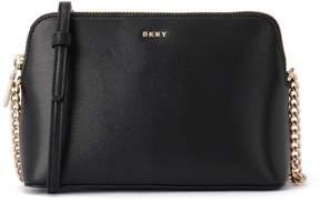 DKNY Bryant Black Leather Shoulder Bag