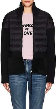 Moncler Women's Shearling-Trim Combo Sweater
