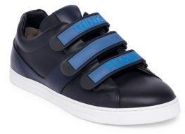 Fendi Leather Grip-Tape Sneakers