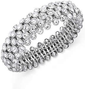 Charter Club Silver-Tone Glass Bracelet