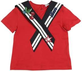 Dolce & Gabbana Cotton Jersey Sailor T-Shirt W/ Patches