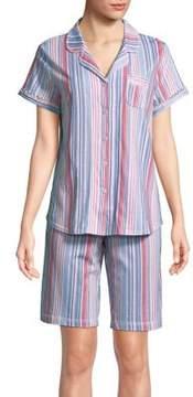 Karen Neuburger Bermuda Stripe Pajamas