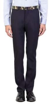 Christian Dior Virgin Wool Camouflage Waist Trouser Pants Black