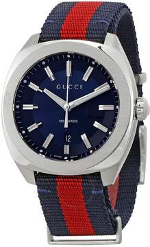 Gucci GG2570 Blue Dial Blue and Red Nylon Men's Watch