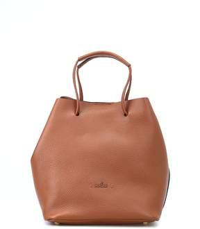 Hogan Brown Soft Hammered Leather Bucket Bag