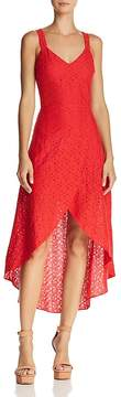 J.o.a. Cutout High/Low Lace Dress