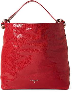 Patrizia Pepe Shimmery Leather Hobo Bag