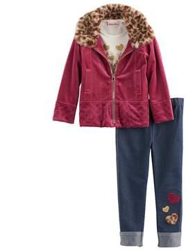 Little Lass Baby Girl Velvet Jacket