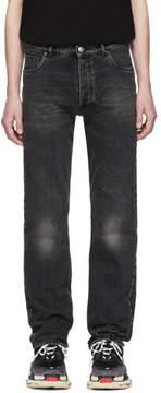 Balenciaga Black Destroyed Hem 5 Jeans