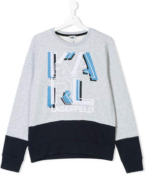 Karl Lagerfeld TEEN logo embroidered sweatshirt