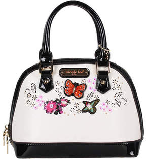 Nicole Lee Visola Butterfly Embroidered Mini Dome Bag (Women's)