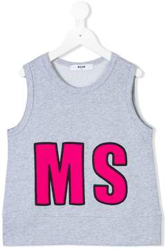 MSGM logo patch tank top