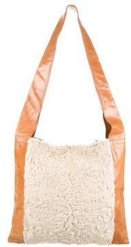 Devi Kroell Persian Lamb & Leather Shoulder Bag