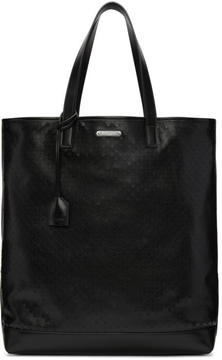 Saint Laurent Black Perforated Shopping Tote