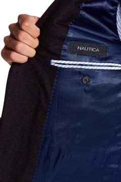 Nautica Burgundy Stone Two Button Notch Lapel Sport Coat