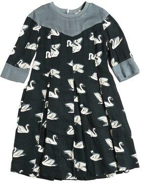 Stella McCartney Swans Printed Dress